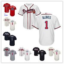 MLB Men's Atlanta Braves Ozzie Albies Jersey Cool Base Player Baseball J... - $39.99