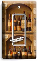 Tuscan Kitchen Italian Wine Bottles Single Gfi Light Switch Wall Plate Art Cover - $7.99