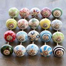 Unique Cabinet knobs Cupboard Pulls Multicolor Hand Painted Ceramic Knob... - $140.00