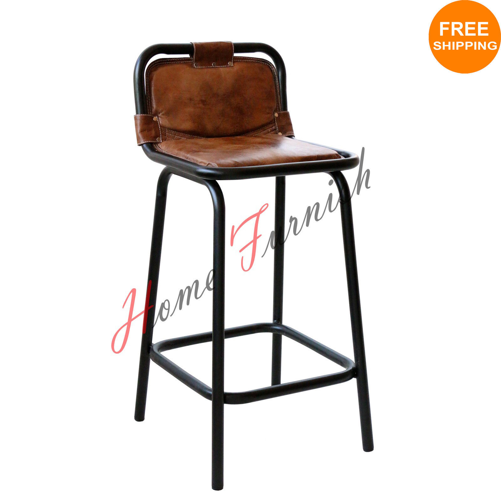 Vintage Style Industrial Kitchen Counter Stool Autehntic