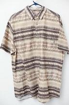 Men's Woolrich button front fishing shirt size XL brown short sleeve - f... - $8.86