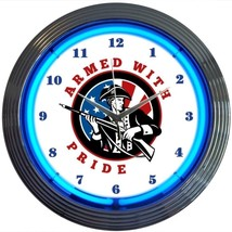 "Armed With Pride Firearms Neon Clock 15""x15"" - $59.00"