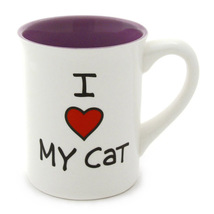 Our Name Is Mud I Heart My Cat Ceramic Coffee Mug & Free Refrigerator Ma... - $9.89