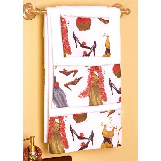 So Stylish! Bath Collection 4-Pc. Set Curtain & Towels