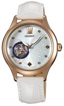 "ORIENT Fashionable Automatic ""Blue Moon"" White Leather Watch DB0A008W - $251.23"