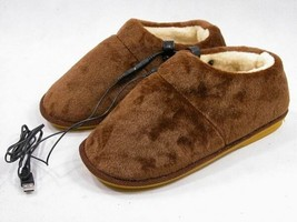 USB Heated Slippers for Warming Your Feet (Brown) - £24.91 GBP