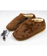 USB Heated Slippers for Warming Your Feet (Brown) - ₨2,295.84 INR