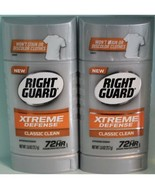 2 - RIGHT GUARD Xtreme Defense 72hr Antiperspirant Deodorant CLASSIC CLE... - $9.80