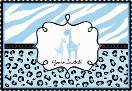 Amscan Sweet Safari Boy Baby Shower Party Postcard Invitations (20 Piece... - $8.99