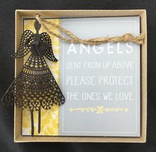 Angel Blessings - Metal Ornament in Gift Box with Blessing Card (Brown) - $10.99