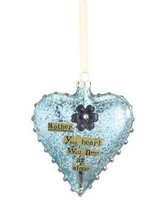 Mother Glass Heart Ornament - $13.99