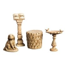 Mini Garden 4 Piece Statue Set - $17.99