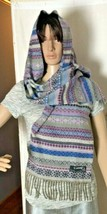 Cashmink Women's Scarf by V. Fraas Nordic Print Purple Blue Gray Made in... - $20.66