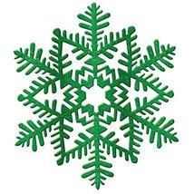 decoration 6.5 inches snowflake green glitter - $5.99