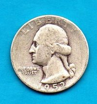 1952  Washington Quarter - Silver - Moderate Wear - $8.00