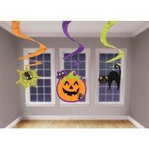 Halloween Holiday Foil Swirl Decorations Celebrations Parties School Fun... - $6.99