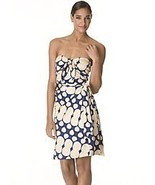 DIANE von FURSTENBERG TAHITI WATERFALL AZURE BLUE DRESS - US 10 - UK 14 - $186.68