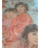 Edna Hibel : Hand Signed Numbered Lithograph/ Jennifer And Her Children ... - $321.75