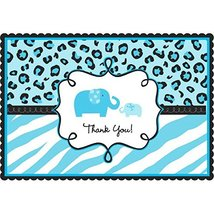 Amscan Sweet Safari Boy Baby Shower Party Postcard Thank You Cards (20 P... - $9.99