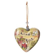 Radiate Beauty Heart Ornament By Kelly Rae Roberts - $8.99