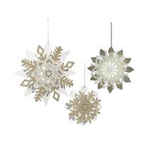 Grasslands Road Northern Lights: Light Up Snowflake Christmas Tree Ornam... - $40.00