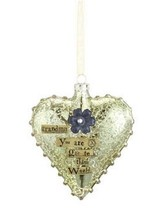 Grandma Glass Heart Ornament - $13.99
