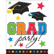 Postcard Grad Multi Invitations (50 Per Package) - $17.50