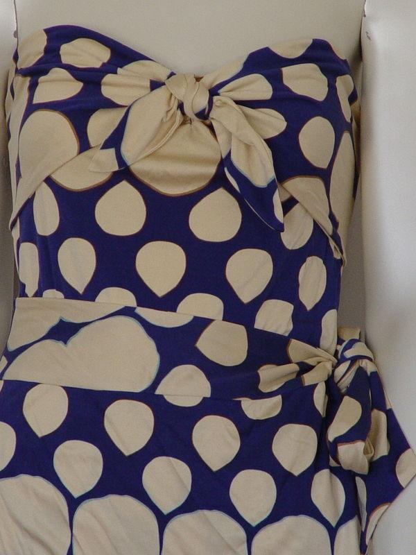 DIANE von FURSTENBERG TAHITI WATERFALL AZURE BLUE DRESS - US 10 - UK 14