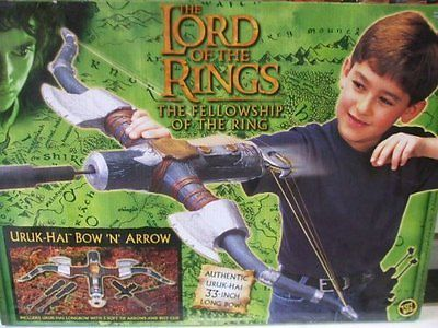Lord of the Rings Fellowship of the Ring Uruk-Hai Bow and Arrow Set