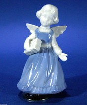 "Angel Blue & White 5"" Wind Up Musical Rotates &... - $13.06"