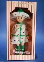 "Vintage 8"" Ginny Doll Rainbow Heart Raincoat and Hat Vinyl Poseable Blon... - $9.90"