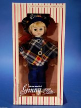 "Vintage 8"" Ginny Doll Plaid Wrap with Blue Pants Vinyl Pose-able Blonde ... - $9.90"