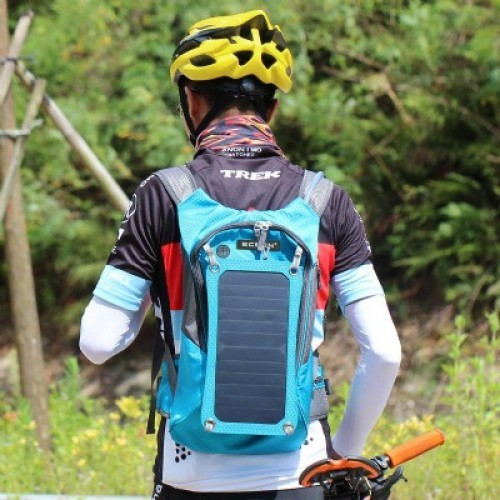 Sports Backpack with Solar Charging Panel and 1.8L Water Reservoir