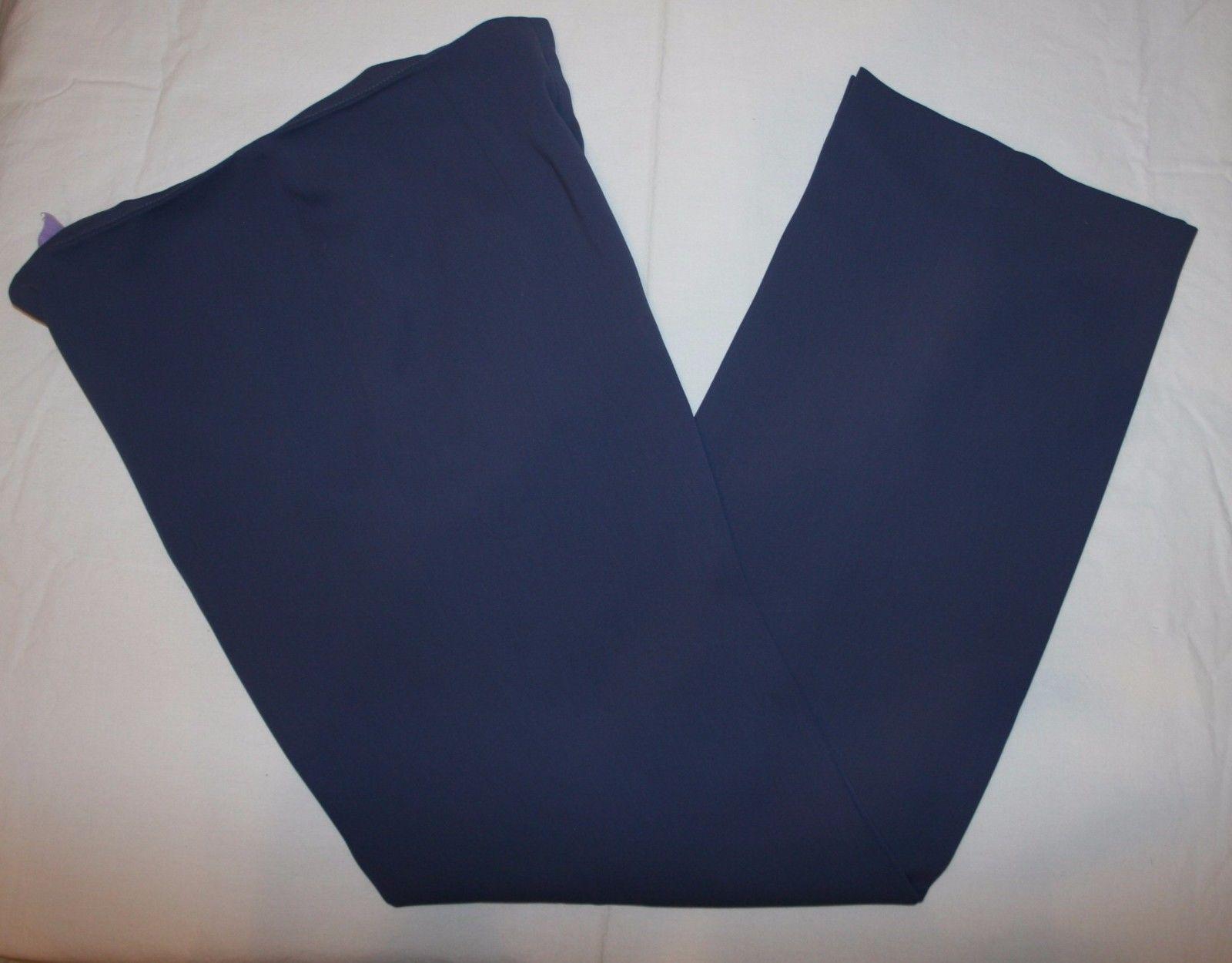 Votre Nom Sz 8 Womens Blue Dress Pants Flat Front