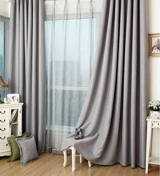 Blackout curtain handmade custom drapery ash grey blackout curtain