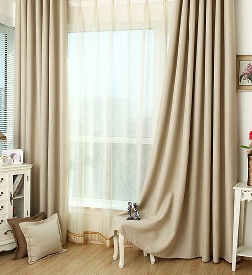 Light Beige Blackout Curtain Handmade Custom Drapery Pinch Pleat Top Curtains Drapes Valances