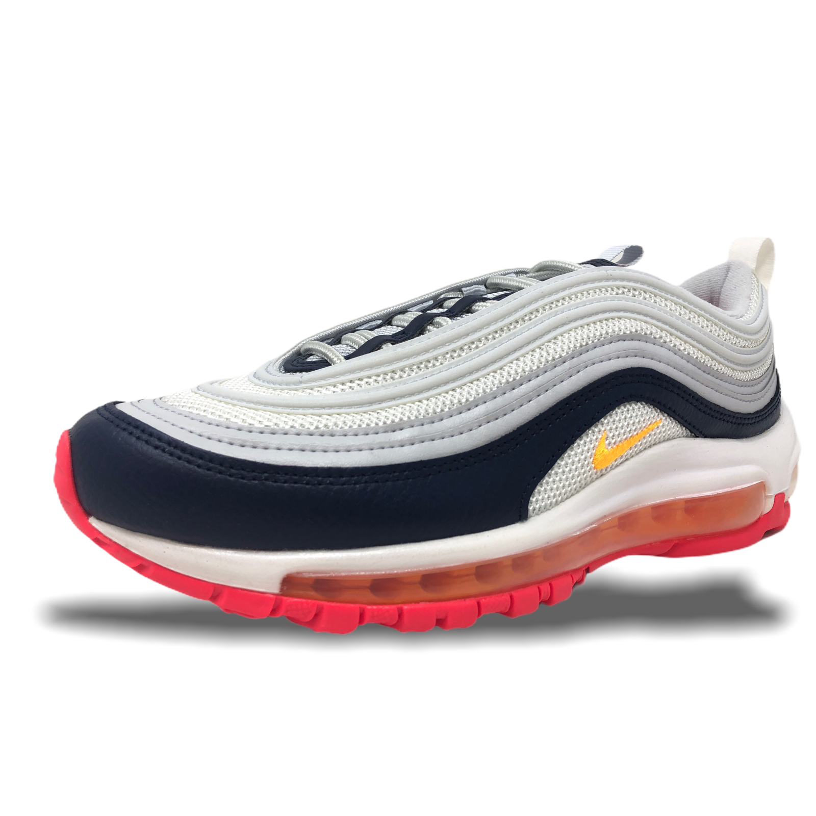 Primary image for Womens Nike Air Max 97 Pure Platinum/Laser Orange Lifestyle Running 921733 015