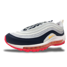 Womens Nike Air Max 97 Pure Platinum/Laser Orange Lifestyle Running 921733 015 - $149.99