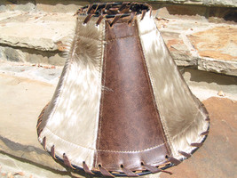 Cowhide Leather Western Lamp Shade 0715 bz - $169.98