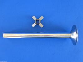 """New knife & 6"""" stuffing tube for VINTAGE Hobart Kitchenaid Mixer Meat Grinder - $25.24"""