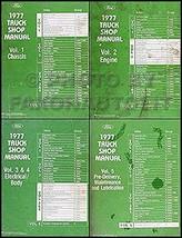 1977 Ford Truck Repair Shop Manual 5 Volume Set Pickup Van Bronco Big Truck [... - $106.92