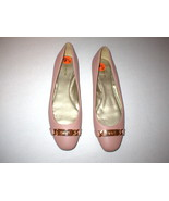 New Womens Authentic Coach Flats Leather 9.5 Shoes Blush Rose Pink Gold ... - $188.00