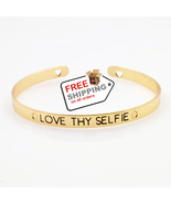 LOVE THY SELFIE Cuff Bangle Lovers Gift Bracelets - $10.00
