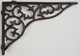 "Wall Shelf Bracket Ornate Cast Iron Brace 11.375"" L Rust DIY Crafting Su... - $19.99"