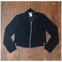 Vintage 1980s En Focus Studio Back Short Fit Jacket Faux Suede Small S Z... - $9.89