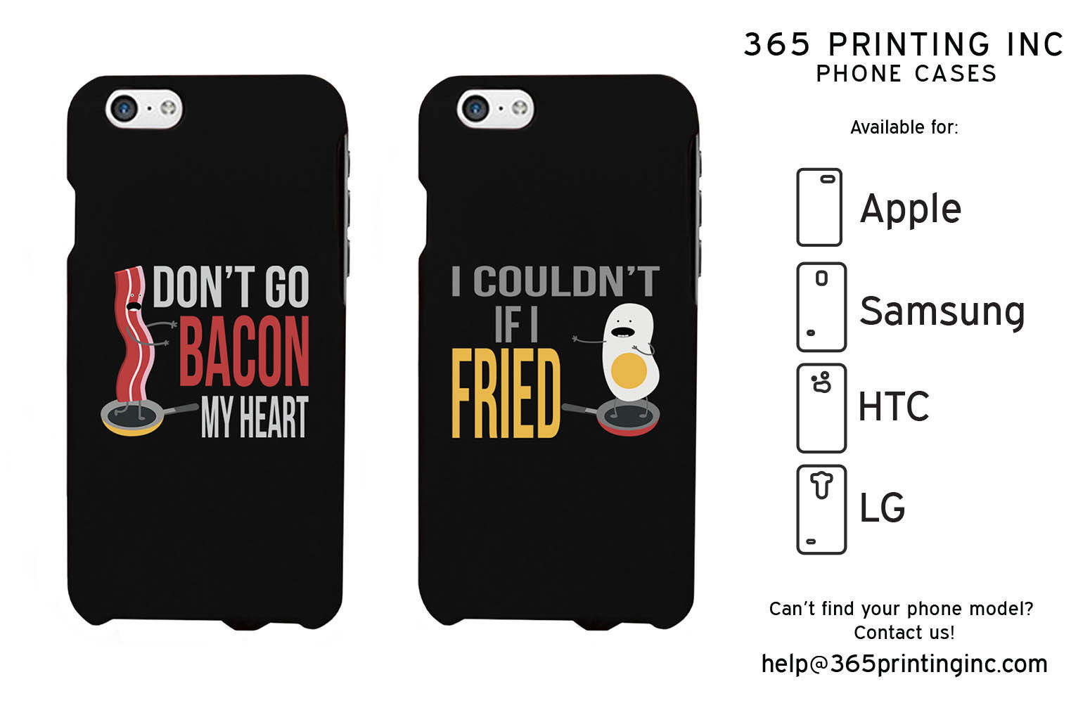 Bacon and Egg Phone Cases - iPhone 4-6+, Galaxy S3-S6 NOTE 4, HTC M8, LG G3