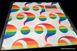 Rainbow Question Wrapping Paper Sheet Gift Book Cover Birthday Decoration White - $14.80