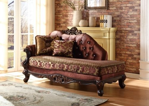 Meridian 685 Living Room Chaise Hand Crafted Brown Traditional Style