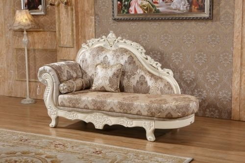 Meridian 691 Living Room Chaise Hand Crafted Pearl White Traditional