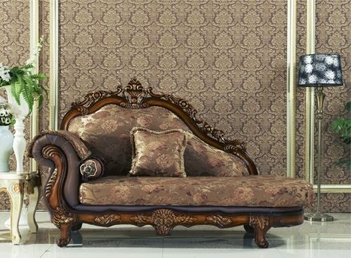 Meridian 693 Living Room Chaise Hand Crafted Brown Traditional Style